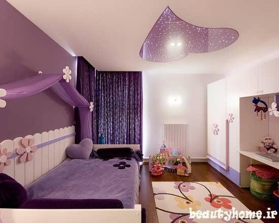 طراحی مدل دکوراسیون اتاق کودک دختر