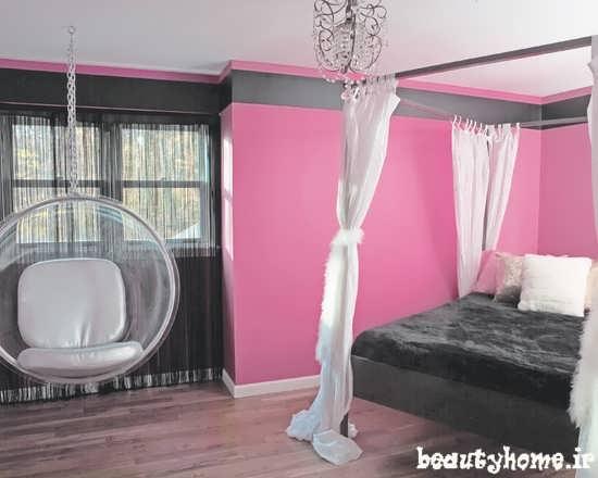 طراحی مدل دکوراسیون اتاق دخترانه 2013