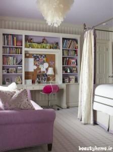 طراحی دکوراسیون اتاق دخترانه مدرن