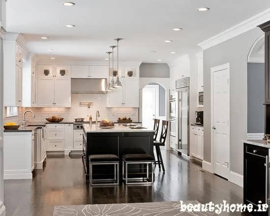 دکوراسیون آشپزخانه با رنگ سفید 2013