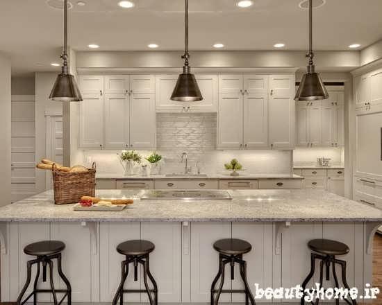 طراحی چند مدل دکوراسیون آشپزخانه سفید رنگ