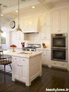 طراحی دکوراسیون آشپزخانه سفید رنگ