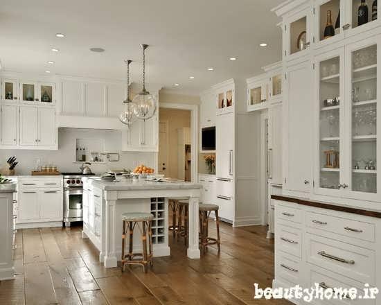 عکس دکوراسیون آشپزخانه سفید رنگ