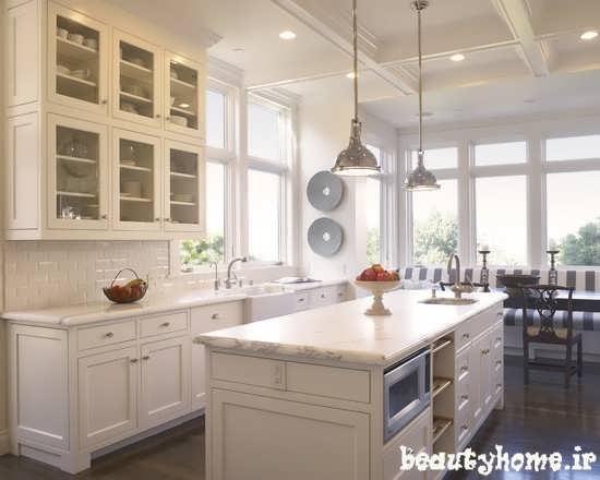 طراحی مدل های دکوراسیون آشپزخانه سفید رنگ