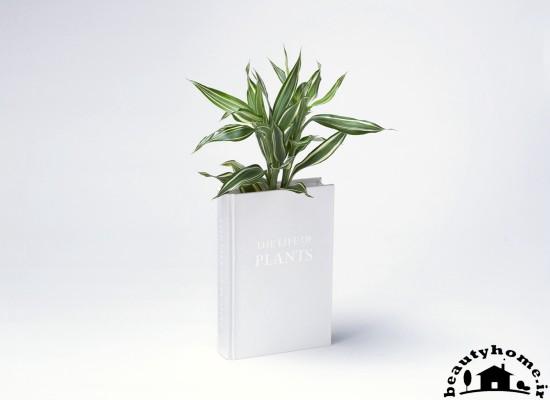 گل درون کتاب برای کتابخانه کوچک خانگی