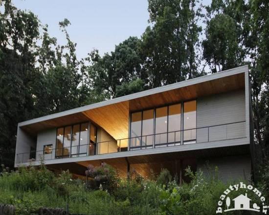 نمای خارجی ساختمان با معماری مدرن