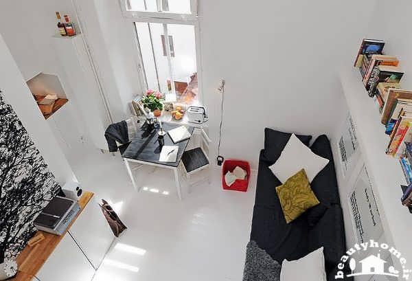 نمای جدید در طراحی دکوراسیون داخلی خانه کوچک و مدرن