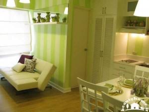 ایده های نو در طراحی دکوراسیون داخلی خانه کوچک سبز