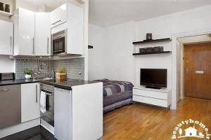 ایده جدید در طراحی دکوراسیون داخلی خانه کوچک و سفید