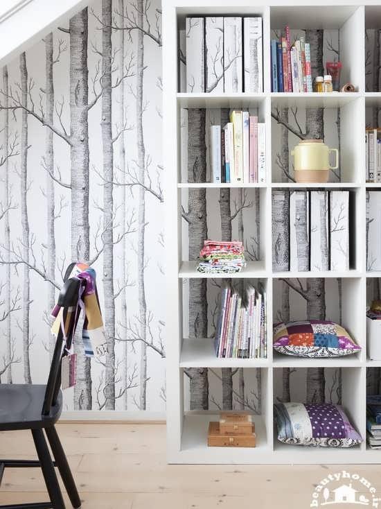 مدل کاغذ دیواری طرح شاخه و برگ