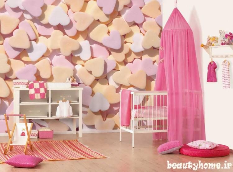 دکوراسیون اتاق نوزاد صورتی و جدید