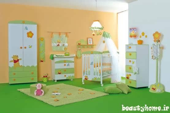 دکوراسیون اتاق نوزاد سبز رنگ