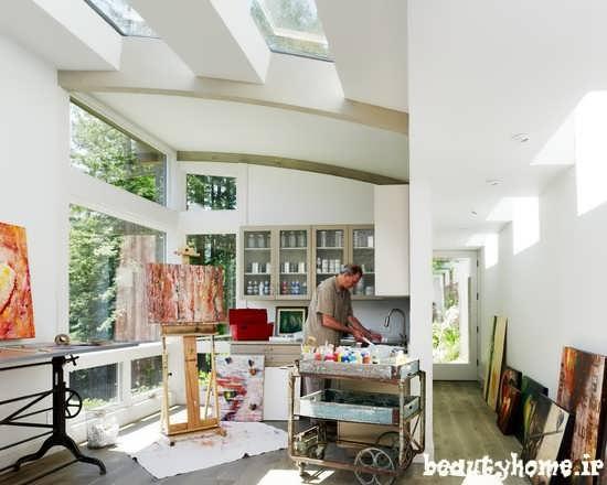 طراحی دکوراسیون اتاق کار و کارگاه نقاشی