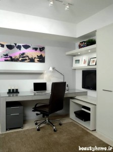 طراحی دکوراسیون اتاق کار شیک و جذاب