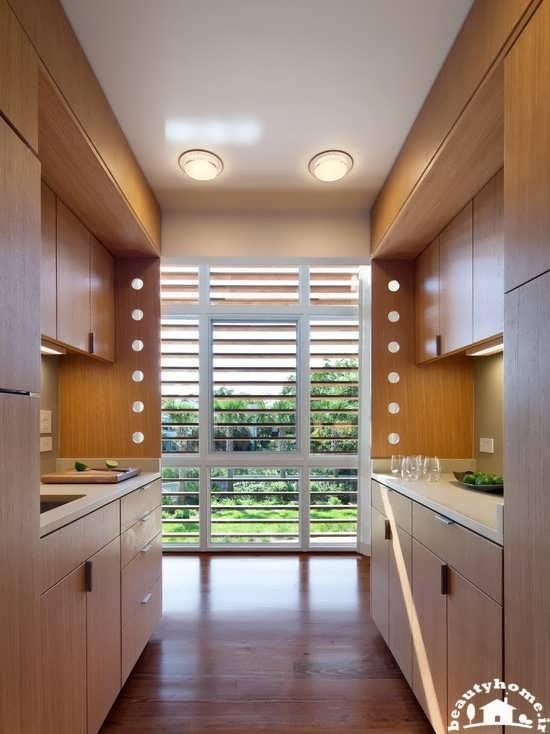طراحی دکوراسیون آشپزخانه کوچک و باریک