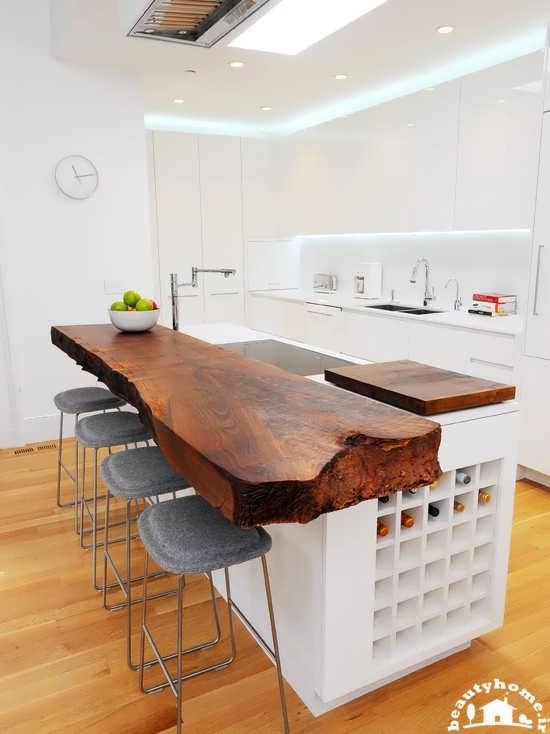 طراحی دکوراسیون آشپزخانه کوچک سفید و جدید