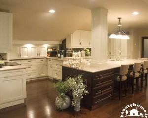 طراحی دکوراسیون آشپزخانه کوچک سفید و زیبا