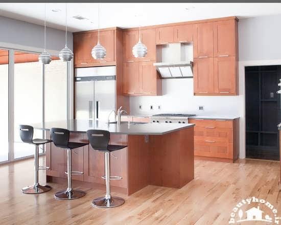 طراحی دکوراسیون آشپزخانه کوچک ام دی اف