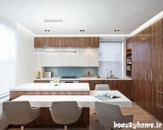 مدل میز بار و چیدمان آشپزخانه مدرن
