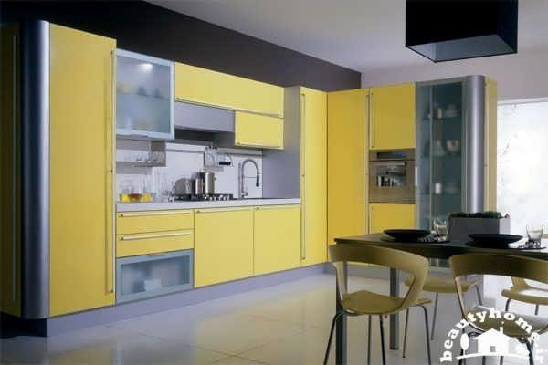 کابینت زرد آشپزخانه ایرانی مدرن 2013