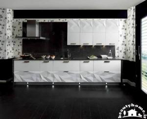 کابینت سفید و مدرن برای دکوراسیون آشپزخانه شیک