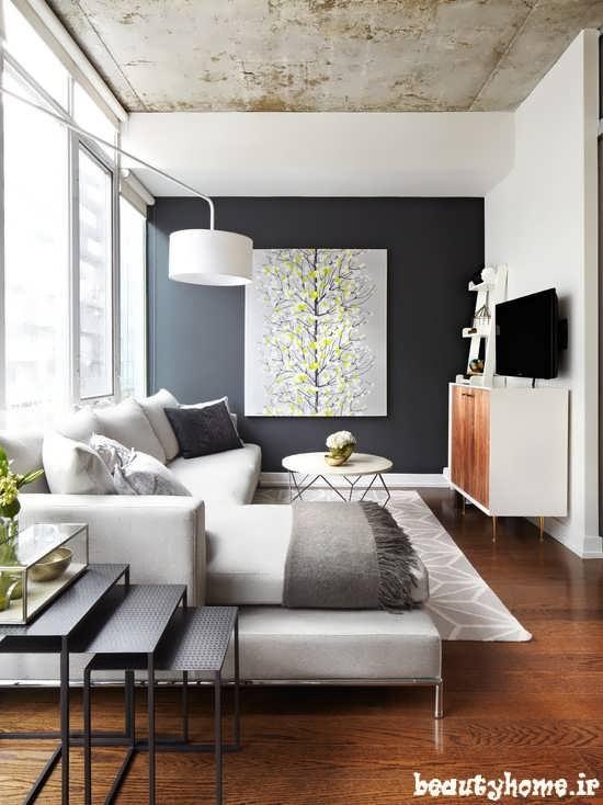 طراحی دکوراسیون اتاق پذیرایی مدرن خانه های کوچک