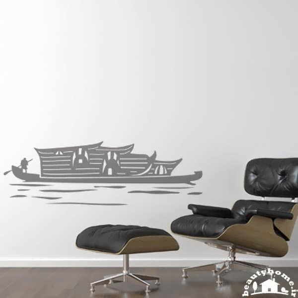 نقاشی و طراحی روی دیوار با ایده های رسم کشتی
