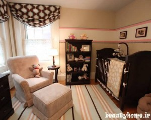 طراحی دکوراسیون اتاق نوزاد مدرن و ساده