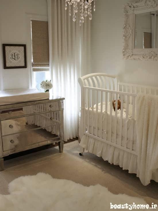 طراحی دکوراسیون اتاق نوزاد با چیدمان راحت