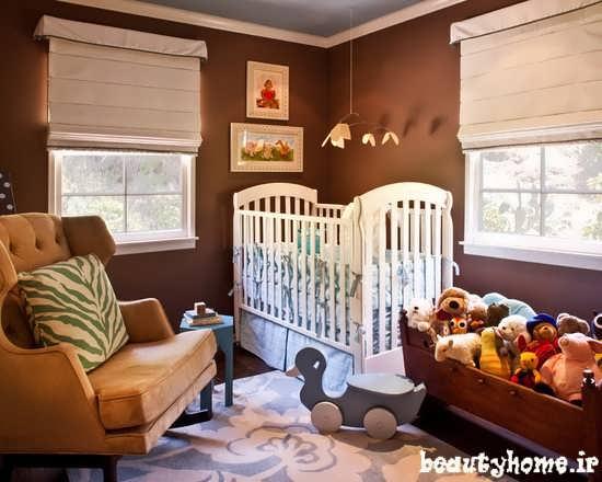 مدل دکوراسیون اتاق نوزاد با چیدمان راحت 2013