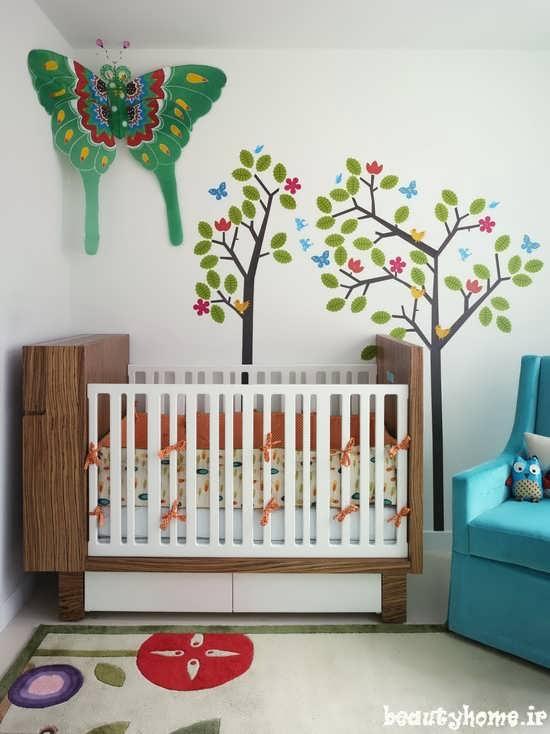 مدل تخت نوزاد با طراحی زیبا