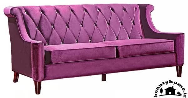 مدل کاناپه راحتی ساده بنفش زیبا