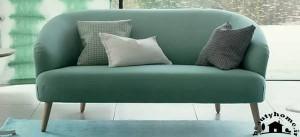 مدل کاناپه راحتی جدید ساده سبز زیبا