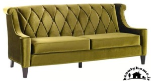 مدل کاناپه راحتی جدید ساده سبز یشمی زیبا