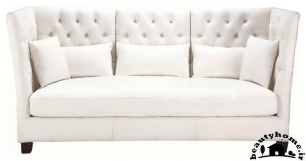 مدل کاناپه راحتی جدید ساده سفید زیبا