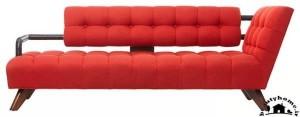 مدل کاناپه راحتی جدید ساده قرمز زیبا