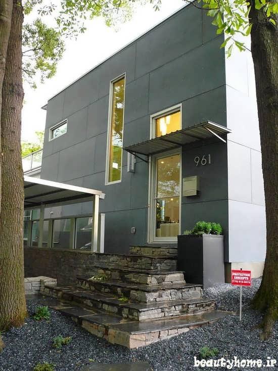 طراحی نمای بیرونی ساختمان مدرن دکوراسیون خارجی