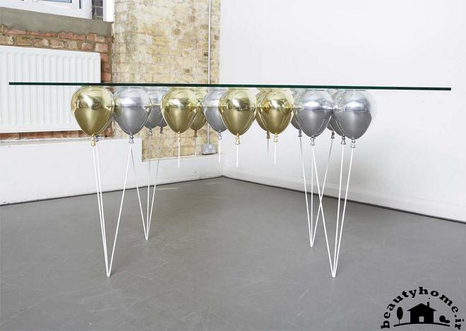 میز نهار خوری شیشه ای شیک مدرن ومتفاوت