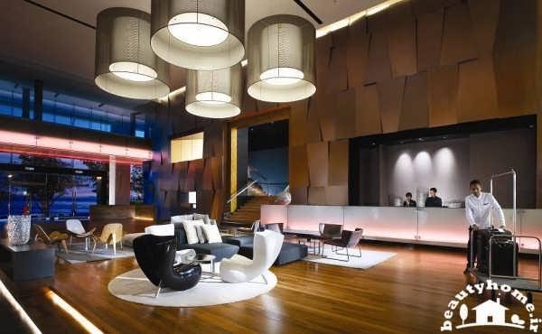 طراحی داخلی هتل با لابی مدرن