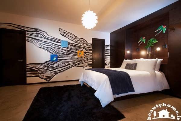 طراحی داخلی هتل با اتاق خواب شیک