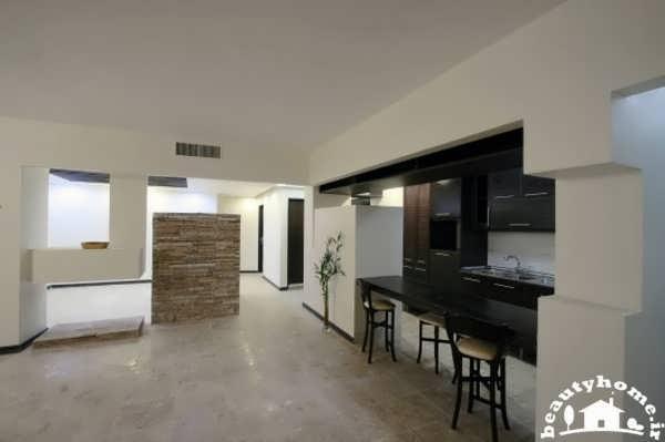 نمای آپارتمان ایرانی با طراحی زیبا و نور پردازی ایده آل