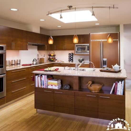 چیدمان آشپزخانه شیک با طراحی زیبا