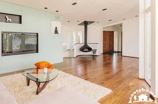 طراحی معماری داخلی خانه با و اتاق پذیرایی