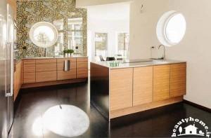 معماری داخلی خانه با آشپزخانه زیبا