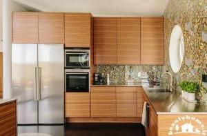 معماری داخلی خانه با طراحی کابینت شیک