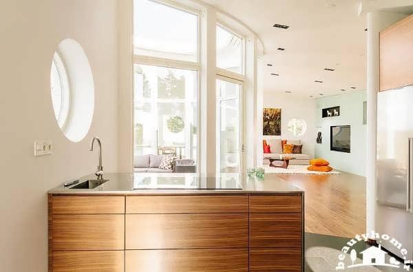 معماری داخلی خانه با نور پردازی مناسب