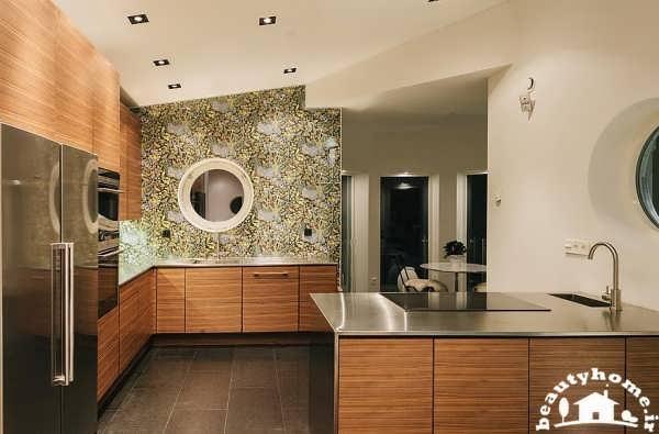 معماری داخلی خانه با طراحی آشپزخانه مدرن