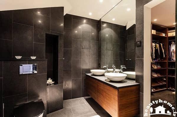 معماری داخلی خانه با حمام شیک
