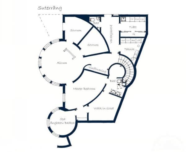 طرح معماری داخلی خانه با طراحی فوق مدرن