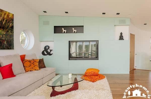 معماری داخلی خانه با طراحی زیبا رنگ دیوارها